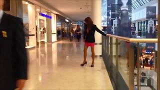 Crossdresser goes shopping