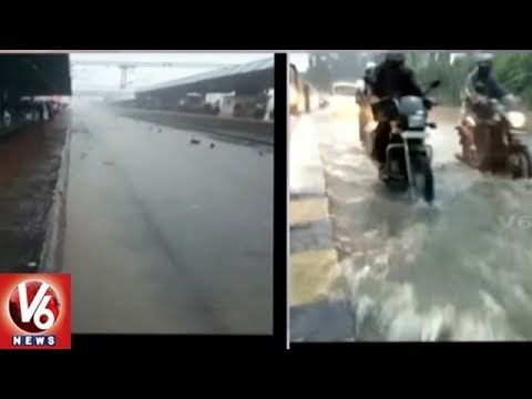 Heavy Rains Lash Gujarat | Flights And Trains Affected In Mumbai | V6 News