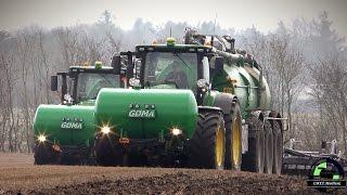 ( Classic / Proficut ) 2 John Deere 8370 Traktoren mit Samson PG II 27 Güllefässern ( Gülle 2016 )