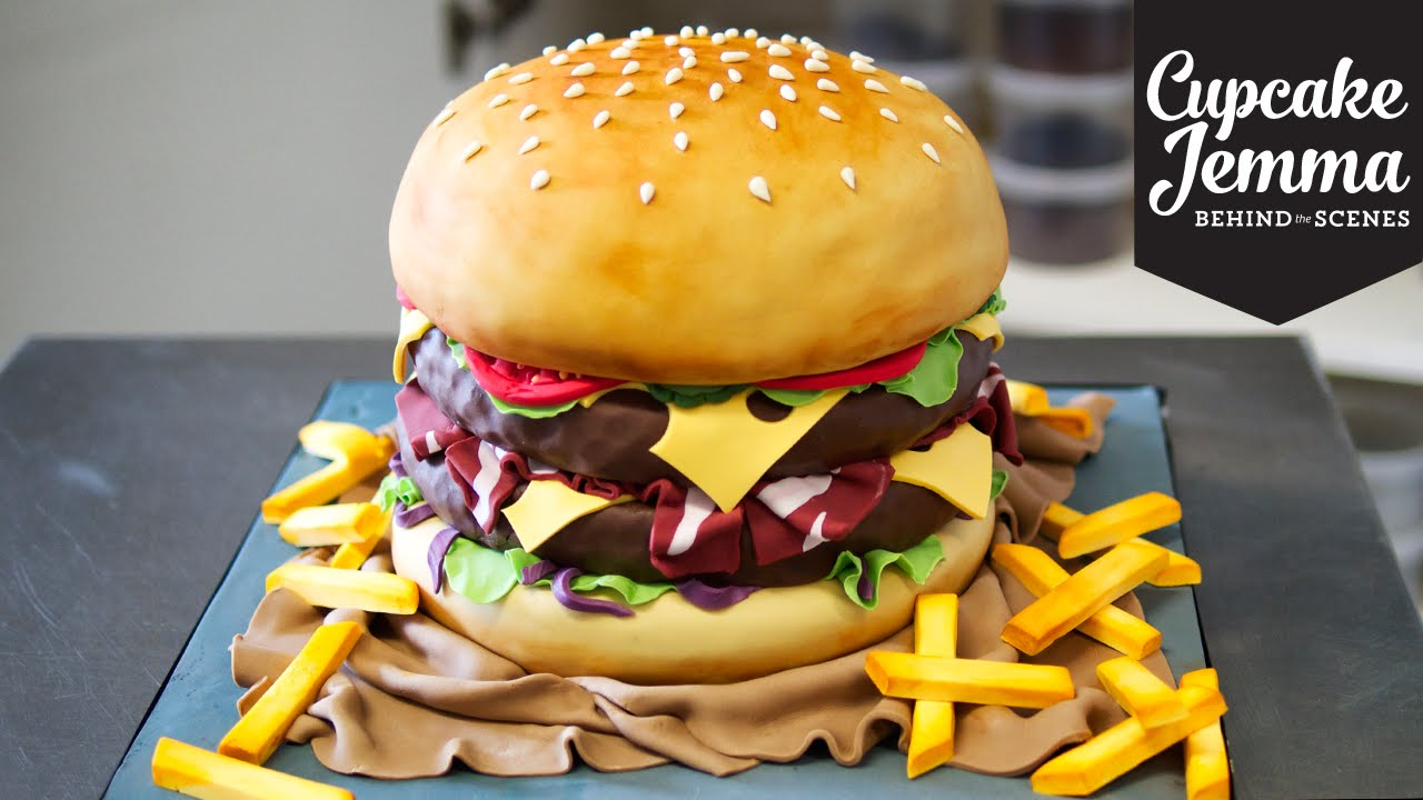 How To Make A Burger Cake Step By Step