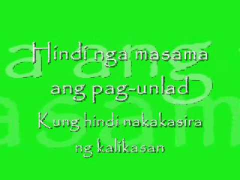 Masdan Mo Ang Kapaligiran-asin.wmv video