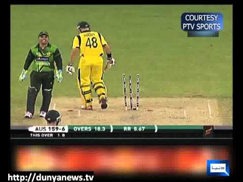 Dunya News - Australia Defeats Pakistan in 3rd T20 Match  - 09-11-2012