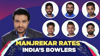 Who tops Manjrekar's bowling report card?