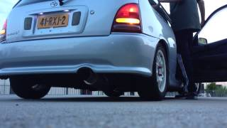 Toyota Starlet Glanza V Apexi N1 exhaust system