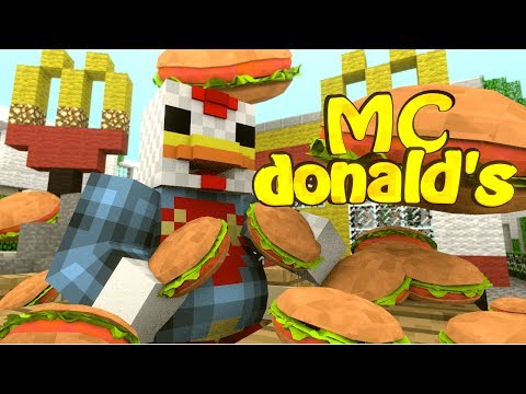 Minecraft | MCDONALDS MOD Showcase! (Mcdonalds, Big Mac, Mcdonalds Dimension)