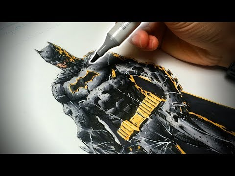 How to Draw Batman (Comic Book Style) Step by Step - Pencil, Ink, and Colors