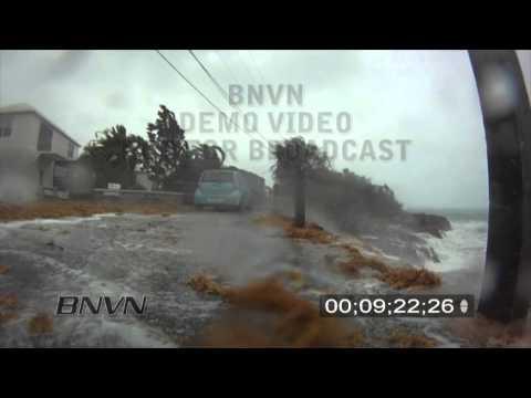 9/19/2010, Hurricane Igor hits Saint Georges Bermuda - Stock Video