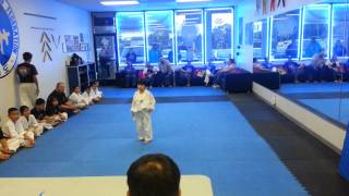 Alexander Tae kwon do test.