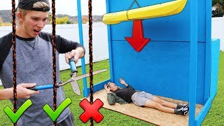 DONT Cut the Wrong Rope!! (EXTREME DROP TEST CHALLENGE)