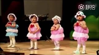 Vừa múa vừa khóc trên sân khấu cô bé mẫu giáo vẫn quyết tâm thể hiện hết cả bài