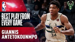 Giannis Antetokounmpo BEST PLAY from Every Game (2017-2018)