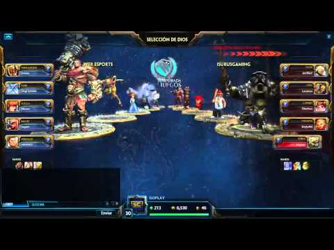 Showmatch Smite - Isurus Gaming vs WER e-Sports - Temporada de Juegos 2015
