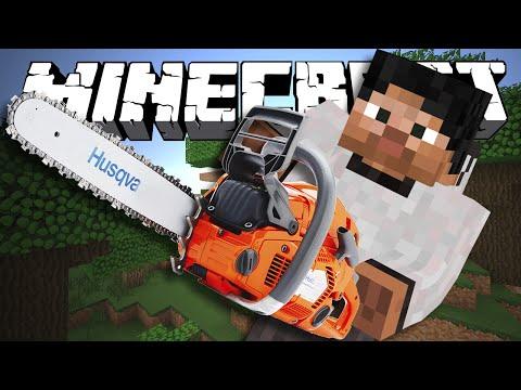 РАБОТАЕМ БЕНЗОПИЛОЙ - Minecraft (Обзор Мода)