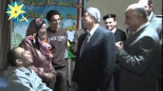 بالفيديو : وزير الداخلية يزور النقيب رامى جمال حرب الذى اصيب بطلق نارى فى فض اعتصام  رابعة