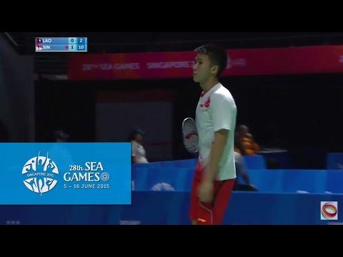 Badminton Men's Team Singapore vs Laos PDR Match 3 (Day 5) | 28th SEA Games Singapore 2015