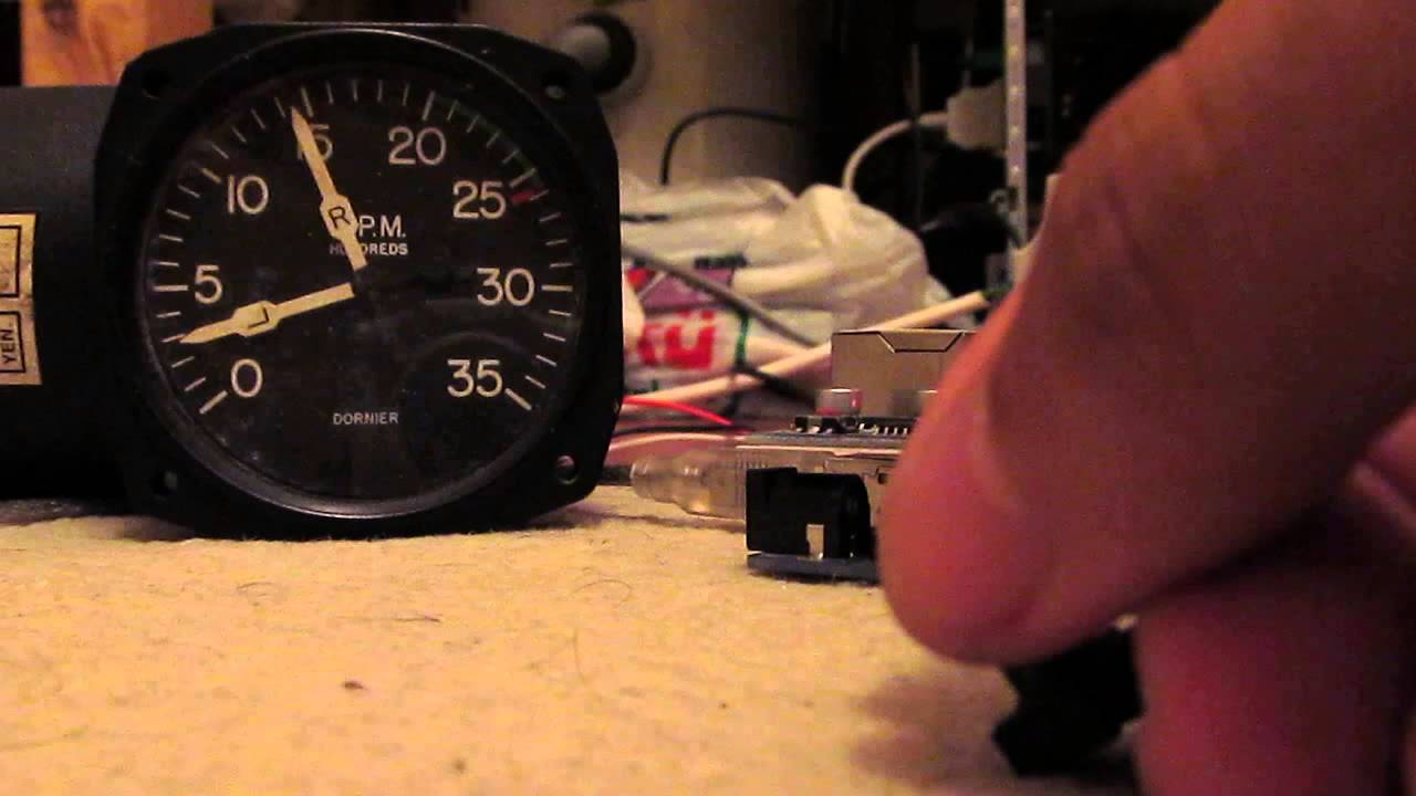 working with real rpm gauge arduino and flight simulator