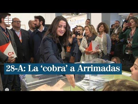 Le niegan la mano a Inés Arrimadas cuando acude a votar