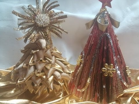DIY Pinito de navidad hecho con materiales reciclados/ Christmas Tree using plastic bottle