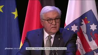 Rede von Frank-Walter Steinmeier beim Festakt zu 100 Jahre Weimarer Verfassung am 06.02.19