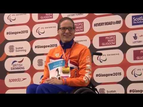 Women's 50m Backstroke S3 | Victory Ceremony | 2015 IPC Swimming World Championships Glasgow