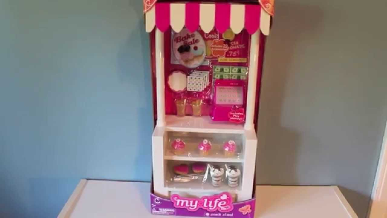 My life snack stand for american girl dolls review youtube for Life size kitchen set