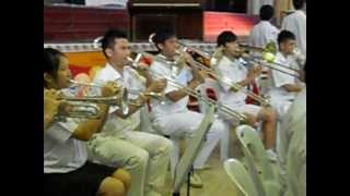 The Poi Lam High School Brass band plays THE MAGNIFICENT SEVEN