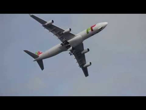 A340-300 em Low Pass na Ba�a de Cascais - NOS Air Race  06/07/2014