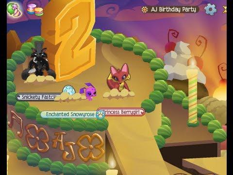 2nd Animal Jam Birthday Party! - YouTube