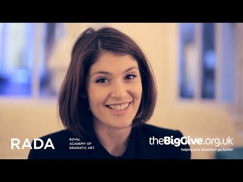 The Big Give 2014 - RADA's Charity Ambassador Gemma Arterton