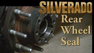 Silverado 2500HD 10.5 11.5 Floating Rear Axle Wheel Seal Replacement
