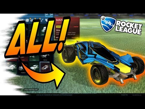 Rocket League Trading - ALL PAINTED MANTIS CARS Showcase! (Nitro Crate, Titanium White, Crimson)