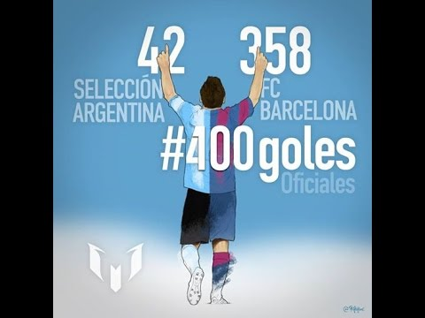 Los 400 goles de Lionel Messi | En el FC Barcelona y la Selección Argentina