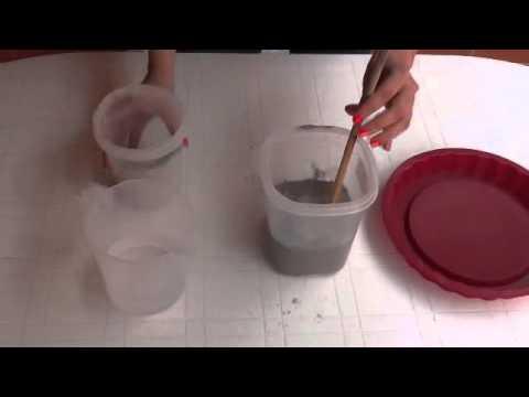 C mo hacer una maceta con cemento youtube - Macetas de pared ...