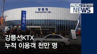 R)강릉선KTX 누적 이용객 천만 명 눈 앞