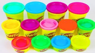 Learn Colors with 7 Color Play Doh - READY KID TOY