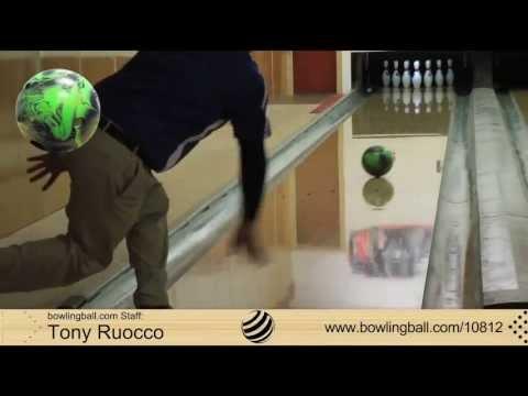 bowlingball.com Pyramid Chosen Path Pearl Black/Lime  Bowling Ball Reaction Video Review