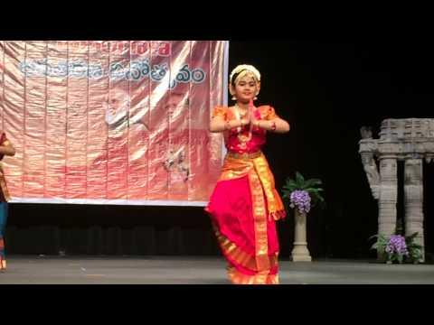 Nimisha Bondugula Koochipudi Dance performance @WATA Telangana formation day celebrations-Bellevue