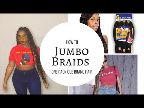 Jumbo Box Braids Using One Pack Of Braiding Hair ?