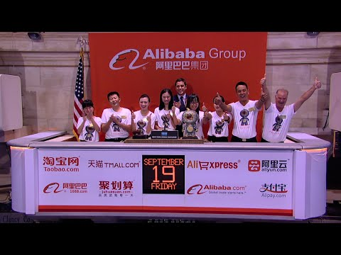 Alibaba Celebrates it's IPO on the New York Stock Exchange