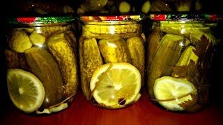Огурцы с лимоном на зиму. Огурцы с лимонной кислотой БЕЗ УКСУСА