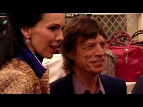 Mick Jagger + L'Wren Scott @ Longchamp Launch London Sept 2013