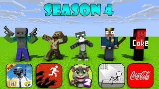 Monster School : SEASON 4 ALL EPISODE - Minecraft Animation