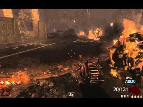 Call of duty: Black Ops 2 Зомби-режим. Забег в городе до 37-й волны.