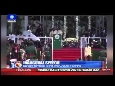 News@10: Muhammadu Buhari Sworn In As President Of Nigeria 29/05/15 Pt.1