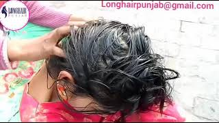 LHPB Rapunzel Mannu Heavy Hair Oiling Combing, With Healthy Hair