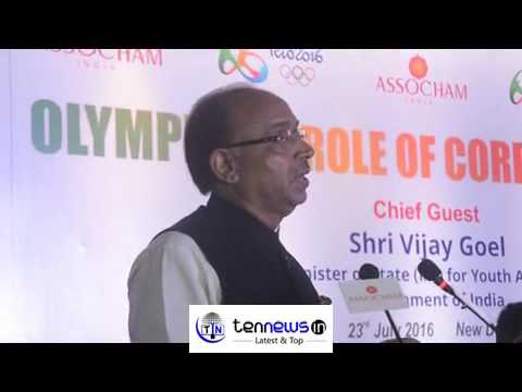 VIJAY GOEL UNION MINISTER : BIG LEF SCREEN WILL BE INSTALLED FOR OLYMPIC GAMES.