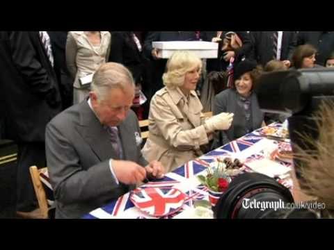 Prince Charles and Camilla tuck into a Big Jubilee Lunch in Piccadilly