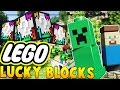 LEGO LUCKY BLOCK MOD CHALLENGE (SKY ISLAND WALLS PVP) | Minec...