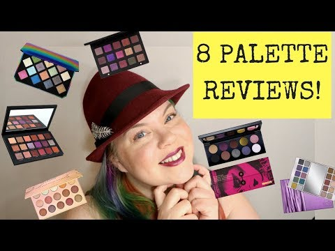 8 Holiday Palette Reviews : Huda Beauty. Lila. Heavy Metal. Pat Mc Grath. Fenty Beauty. Colourpop