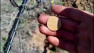 Коп на распаханном хуторе 02.07.2014г Search for coins with a metal detector